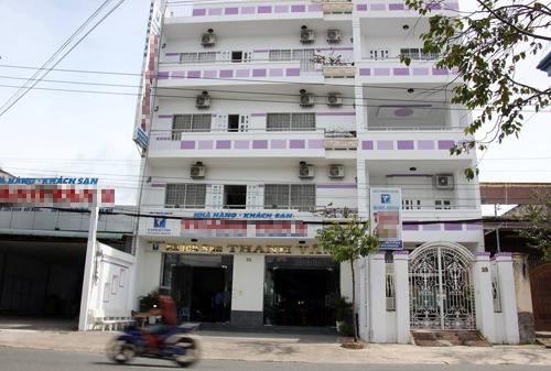 Khách sạn mà Cục phó môi trường báo bị mất gần 400 triệu trong chuyến công tác tại Long An. Ảnh: Hoàng Nam.
