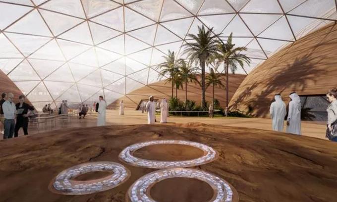Thành phố sao Hỏa tương lai của UAE trên Trái Đất