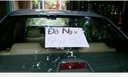 Cả xóm truy tìm tài xế đỗ xe vô ý thức