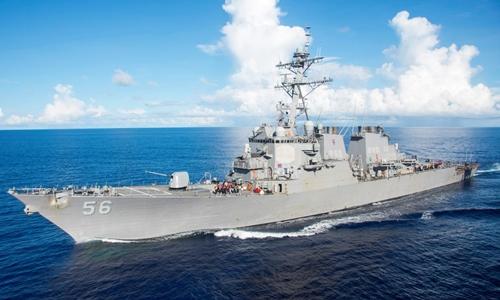 Tàu khu trục Mỹ USS John S. McCain. Ảnh: Reuters.