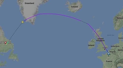 Đường bay của chuyến bay 066. Đồ họa: Sun.