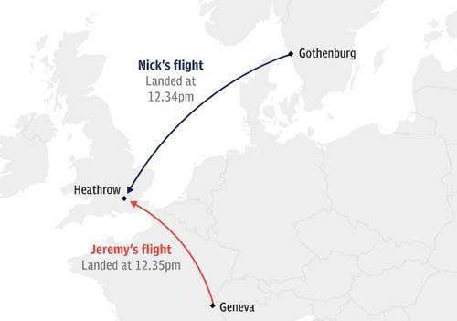 Hành trình chuyến bay cuối của hai anh em nhà Hart. Ảnh: Telegraph.