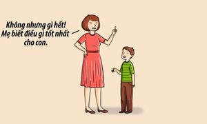 Những sai lầm của phụ huynh trong nuôi dạy trẻ