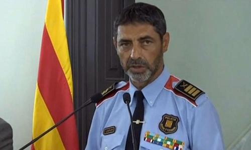 Josep Luis Trapero, cảnh sát trưởng Catalonia. Ảnh: Euronews.
