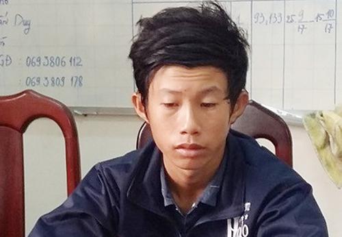 Hoàng thừa nhận hành vi hãm hiếp bé gái khi làm việc với cảnh sát. Ảnh: Phúc Hưng.