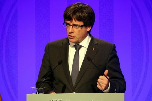 Ông Carles Puigdemont, lãnh đạo Catalonia. Ảnh: ACN.