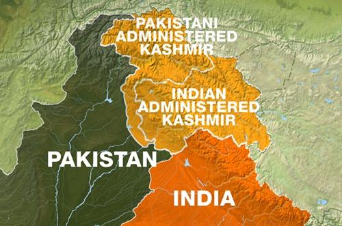 Đường Kiểm soát phân chia khu vực Kashmir giữa Ấn Độ và Pakistan. Đồ họa: Al Jazeera.