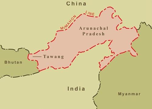 Vị trí quận Tawang, bang Aru