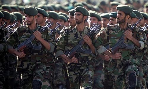 Vệ binh Cách mạng Iran, lực lượng tinh nhuệ của quân đội Iran. Ảnh: Reuters.
