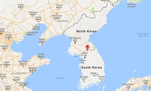 Vị trí khu vực Cheorwon, tỉnh Gangwon, Hàn Quốc. Đồ họa: Google Maps.