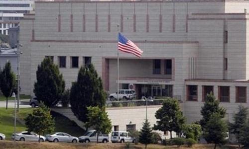 Đại sứ quán Mỹ tại Ankara, Thổ Nhĩ Kỳ. Ảnh: Press TV.