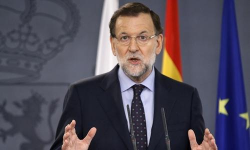 Thủ tướng Tây Ban Nha Mariano Rajoy. Ảnh: Reuters.