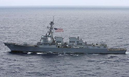 Tàu khu trục USS Chafee. Ảnh: Reuters