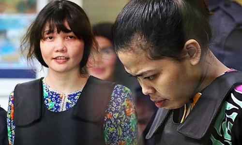 Đoàn Thị Hương (trái) và Siti Aisyah. Ảnh: Free Malaysia Today.