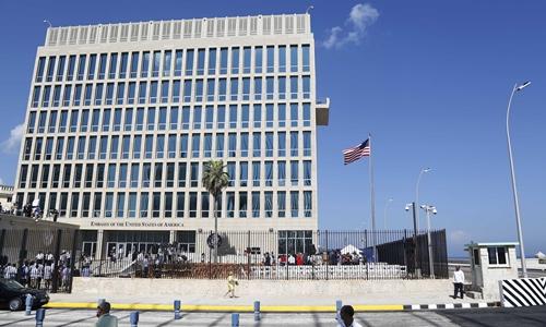Đại sứ quán Mỹ tại Havana, Cuba. Ảnh: AP.