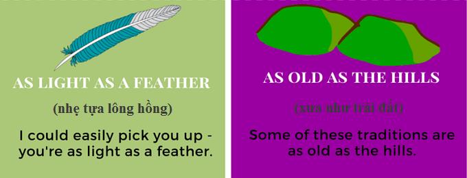Cách nói 'nhẹ tựa lông hồng' trong tiếng Anh
