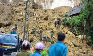 Hòa Bình công bố tình trạng khẩn cấp do sạt lở đất