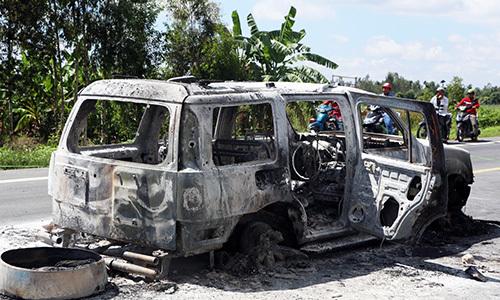 Hành tung của tài xế tố cáo nhóm giang hồ đốt ôtô giết giám đốc