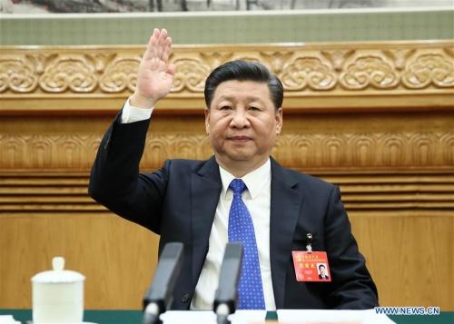 Chủ tịch Trung Quốc Tập Cận Bình tại cuộc họp trù bị hôm 17/10. Ảnh: Xinhua.