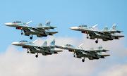 Phi đội tiêm kích biểu diễn Nga bay chỉ cách nhau vài mét