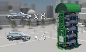 Bãi đỗ xe thẳng đứng tăng không gian để xe gấp 8 lần