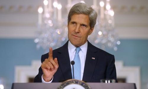 Cựu ngoại trưởng Mỹ John Kerry. Ảnh: AP.