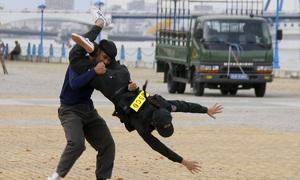 Cảnh sát cơ động trình diễn võ thuật trước thềm APEC