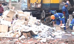 Lô mỹ phẩm hơn 20 tỷ đồng bị TP HCM tiêu hủy