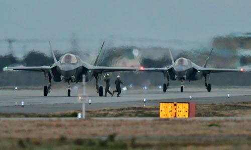 Tiêm kích F-35A của không quân Mỹ. Ảnh: Stripes.