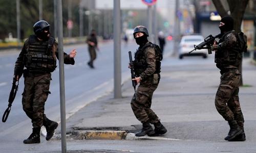 Cảnh sát Thổ Nhĩ Kỳ. Ảnh: AFP.