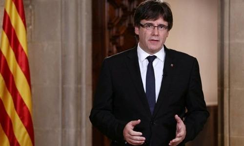 Lãnh đạo Catalonia Carles Puigdemont. Ảnh: Reuters.