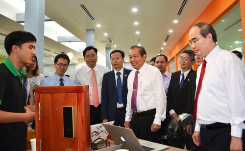 Ông Nguyễn Thiện Nhân 'đặt hàng' trường Bách khoa xây dựng đô thị thông minh