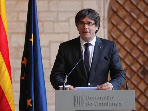 Ông Carles Puigdemont, người mới bị phế truất chức thủ hiến vùng tự trị Catalonia. Ảnh: