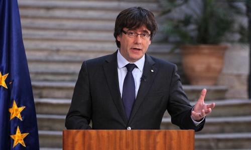 Ông Carles Puigdemont. Ảnh: AP.