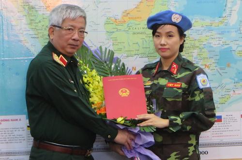 Việt Nam cử nữ sĩ quan đầu tiên tham gia gìn giữ hoà bình Liên hợp quốc