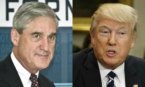 Tổng thống Mỹ Donald Trump (phải) và công tố viên đặc biệt Robert Mueller. Ảnh: AP.