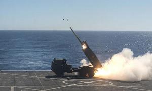 Mỹ muốn lắp pháo phản lực lên tàu đổ bộ đối phó Triều Tiên
