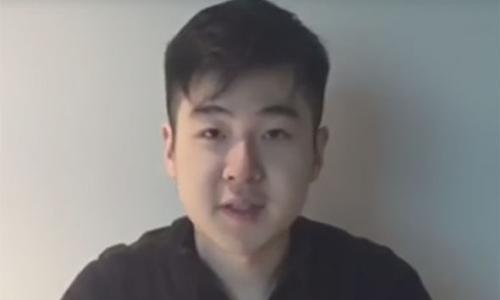 Kim Han-sol trong video hồi tháng 3. Ảnh: CNN.