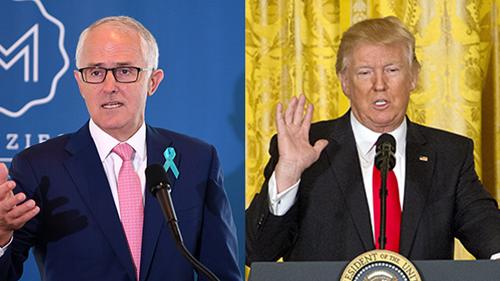 Thủ tướng Australia Malcolm Turnbull và Tổng thống Mỹ Donald Trump. Ảnh: Reuters.