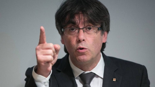 Carles Puigdemont, cựu lãnh đạo Catalonia. Ảnh: Reuters.