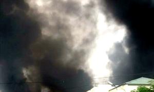 Hỏa hoạn tại công ty thiết bị điện nghi do hàn xì