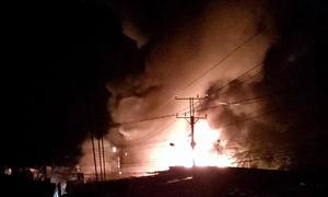 3 bà cháu chủ tiệm vàng tử vong khi cháy ở chợ