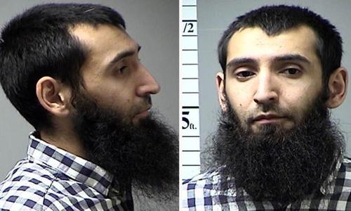Nghi phạm Sayfullo Habibullaevic Saipov của vụ đâm xe khủng bố ở New York. Ảnh: CNN.