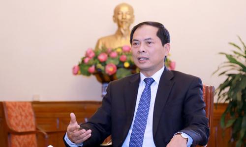 Thứ trưởng Thường trực Bộ Ngoại giao Bùi Thanh Sơn. Ảnh: Bộ Ngoại giao Việt Nam.