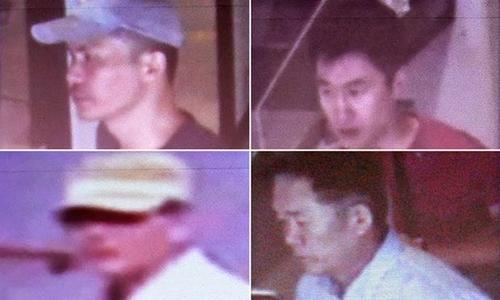 4 nghi phạm Triều Tiên trong nghi án Kim Jong-nam. Ảnh: AFP.