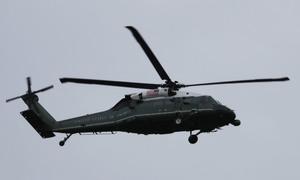 Trực thăng của Tổng thống Mỹ bay thử trên bầu trời Đà Nẵng
