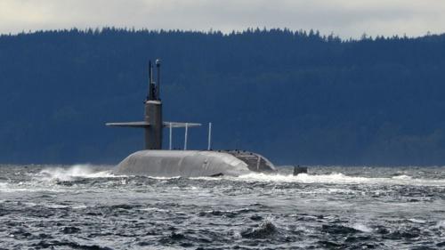 Tàu ngầm hạt nhân USS Pennsylvania thuộc lớp Ohio. Ảnh: RT.