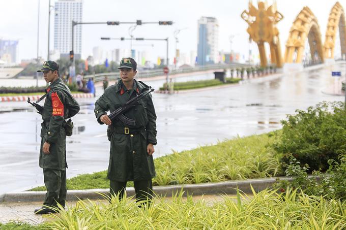 An ninh thắt chặt từ sân bay đến khách sạn tại Đà Nẵng