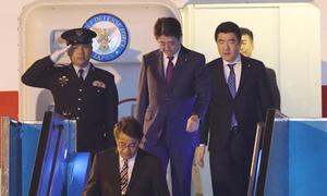Chuyên cơ của Thủ tướng Nhật Bản đến Đà Nẵng