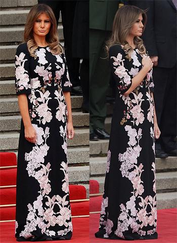 Chiếc váy thêu hoalà một sáng tạo của nhà mốt Italy Dolce&Gabba